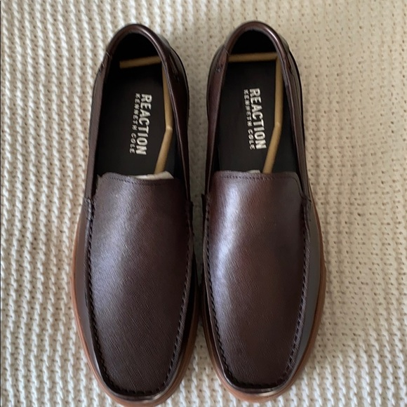 Kenneth Cole Men's Drawback Slip-ons Dark Brown